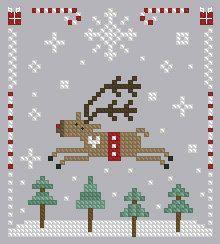 moose cross stitch charts - Google Search                                                                                                                                                                                 More