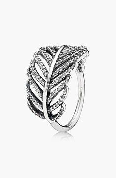 *Feather ring. $80. Cute. ~H. Free shipping and returns on PANDORA 'Light as a Feather' Cocktail Ring at Nordstrom.com. A giftable cocktail ring with a glittering feather setting gorgeously represents nature and free spirits.