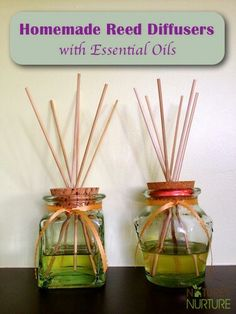 DIY essential oil diffusers