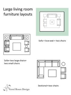 Vered Rosen Design: Living Room Seating Arrangements  Furniture Layout Ideas