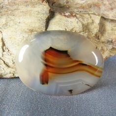 Montana Agate Cabochon for wire wrap bead or by azbluerockers