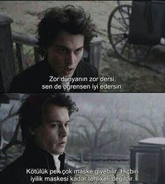 Hiç biriiii! Johnny Depp, Movie Quotes, Book Quotes, Sad Movies, Good Sentences, Movie Lines, Pretty Quotes, Film Movie, Beautiful Words