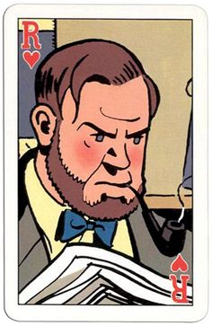 Harten Heer speelkaart Blake and Mortimer cards Edgar P Jacobs comics Blake Et Mortimer, Fashion Art, Westerns, Disney Characters, Fictional Characters, Pin Up, Character Design, Playing Cards, Culture