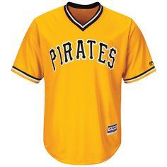 old pittsburgh pirates replica jersey | Pittsburgh Pirates Josh Harrison Replica Yellow Gold Retro Alternate ...