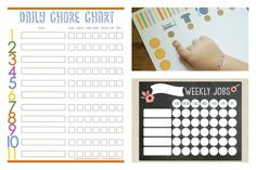 Printable chore charts for preschoolers and older kids | Cool Mom Picks