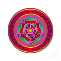 Medieval Rose Sticker
