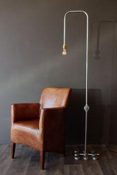 Industrial Tube Floor Lamp