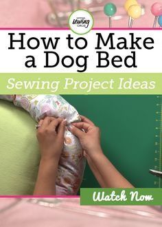 While you want to learn how to make a dog bed that is both comfortable and stylish for your pet you also want it to hold up over time. The dog bed in this video is made from flannel and cotton. If you have a pet that you know can be tough on things, or is just a larger pet in general, you may want to consider using a sturdier fabric like a duck cloth or even upholstery fabric.
