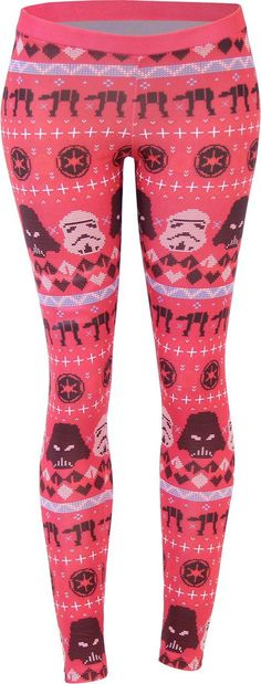 Amazon.com: Star Wars Ugly Christmas Pattern Red Leggings