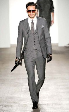 Three Piece Suit -- walk with confidence