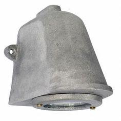 Wandlamp ruw aluminium. Buitenverlichting van DeJaren30Fabriek.nl. Industriele buitenlamp, industrielen wabndlamp, wandlamp aluminium, wandlamp ruw alu.