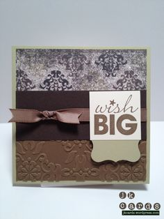 Stampin' Up!, Mojo 239, Weel Worn DSP, Vintage Wallpaper Embossing Folder, Word Play, Curly Label Punch