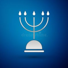 Silver Hanukkah menorah icon isolated on blue background. Hanukkah traditional s #Sponsored , #sponsored, #AD, #Hanukkah, #icon, #background, #menorah Unique Business Cards, Professional Business Cards, Jewish Festivals, Hanukkah Menorah, Blue Backgrounds, Religion, Decor, Decorating, Decoration