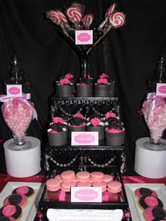 Pink, black and white party #pinkblack #party