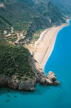 Kathisma beach in Lefkada island, Greece - Want to work from here? Work & live wherever you want: http://www.1worldand1vision.com