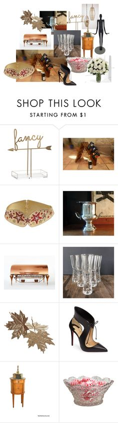 """A Bit of Fancy"" by nachokitty ❤ liked on Polyvore featuring interior, interiors, interior design, home, home decor, interior decorating, Manish Arora, Christian Louboutin and vintage"