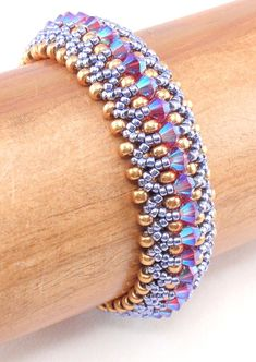 Beading Tutorial for Kaleidoscope Bracelet beading tutorials