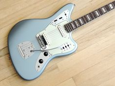 2003 Fender Jaguar American Vintage Electric Guitar AVRI w/ 1966 Neck Ice Blue!