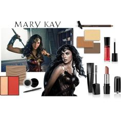 Wonder Woman Mary Kay by taylormarie213 on Polyvore featuring beauty and Mary Kay