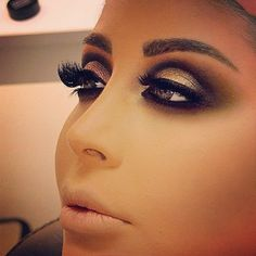 Samer Khouzami makeup.... this is too much but I admire the intensity