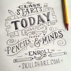 """New Skillshare class, same old announcement drawing. Check my  Twitter and Skillshare got links!"""