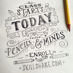 """New Skillshare class, same old announcement drawing. Check my  Twitter and Skillshare got links!"""