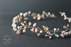 Rose gold hair vine wedding bridal hair von KathleenBarryJewelry