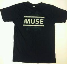 MUSE Alternative Rock Band Logo Men's Black T-Shirt Size Large #core #BasicTee
