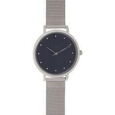 Principles by Ben de Lisi Silver crystal marker mesh watch | Debenhams