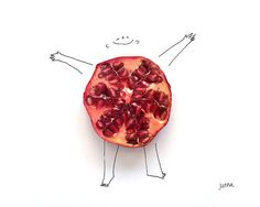 La ilustradora colombiana Juana Medina deja volar su imaginación en lo que refiere a materiales para hacer sus dibujos, y en esta serie utiliza algunos alimentos para complementar estas obras diver...
