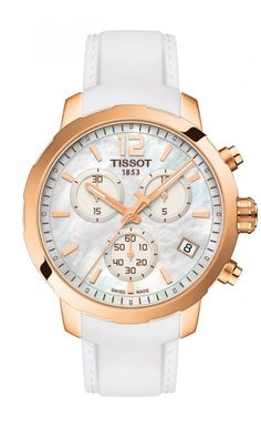 Tissot Quickster Women's Quartz MOP White Dial with White Rubber Strap Tissot Quickster