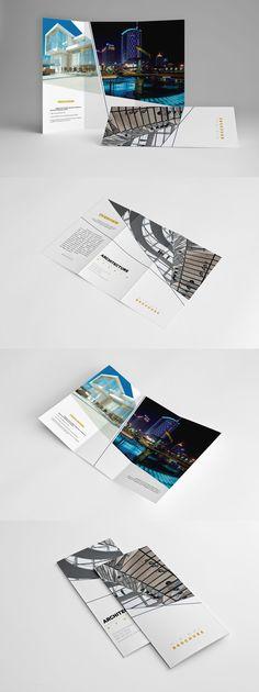 Minimal Universal Trifold Brochure by Kahuna_Design on Envato Elements Brochure Layout, Brochure Design, Brochure Template, Booklet Design, Design Templates, Elements Of Design, Brochures, Minimalism, Presentation