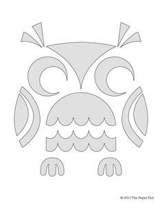 The+Paper+Nut+Cute+Owl+Pumpkin+Carving+Stencil.jpg 1,241×1,600 pixels