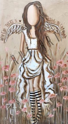 Angel Artwork, Angel Paintings, Original Paintings, Nurse Art, Africa Art, Art Techniques, Art Pictures, Folk Art, Art Drawings