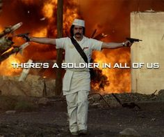 There's a soilder in all of us
