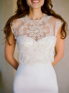 New Kirstie Kelly gowns are up in bridal gown section! Love this lace bolero over a simple sweetheart #wedding dress!