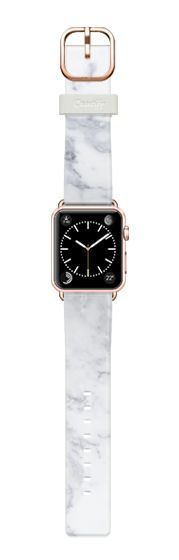 Casetify Apple Watch Band (38mm) Casetify Band - Marble White Band by Fauzi Putra #Casetify