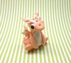 Peachy Dragon by KriannaCrafts on Etsy