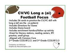Phonics CV/VC long a