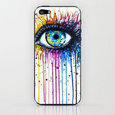 """Rainbow Eye"" iPhone & iPod Skin by PeeGeeArts - $15.00"