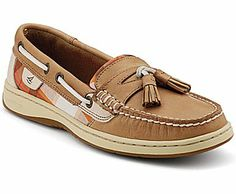Sperry Tasslefish Slip-On Boat Shoe, Linen Leather / Cognac Plaid, dynamic Reg $85 Sale $64.99