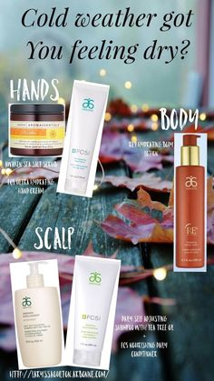 Ohhh the cold winter days are ahead of us but you don't have to live with damaging effects of the cold when you can use botanically inspired pure safe products with a Swiss heritage. carriedavisvalleyview.arbonne.com