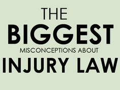 Personal Injury Law: The Most Common Misconceptions. Know the difference in facts & myth. - http://www.zacharlawblog.com/2014/03/personal-injury-law-the-most-common-misconceptions.html