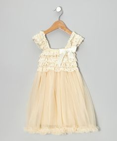 Look what I found on #zulily! Ivory Ruffle Babydoll Dress - Toddler & Girls by Tutus by Tutu AND Lulu #zulilyfinds