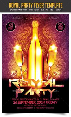 Royal Party Flyer Template PSD   Buy and Download: http://graphicriver.net/item/royal-party-flyer/8894947?WT.ac=category_thumb&WT.z_author=studiorgb&ref=ksioks