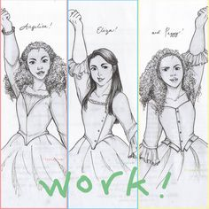 The Schuyler Sisters Fanart<<< I love that Angelica and Peggy look similar, like actual sisters would Aaron Burr, Hamilton Broadway, Hamilton Musical, Hamilton Drawings, Hamilton Wallpaper, Hamilton Lin Manuel Miranda, Hamilton Fanart, And Peggy, Alexander Hamilton