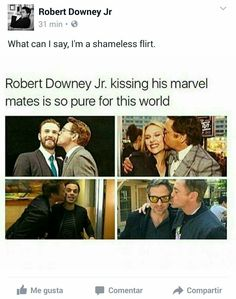 RDJ said it himself: he's a shameless flirt!