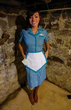 NWT Vintage Howard Johnson Waitress Uniform. $40.00, via Etsy.