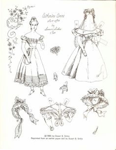 CATHERINE ANNE 1825-1835 by Susan Sirkis 1964 | ©1985 by Susan B. Sirkis | Reprinted from an earlier paper doll by Susan B. Sirkis <<>> 1 of 4