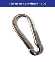 "Cimarron Carabiners - 100. While there are a variety of ways to suspend netting, we recommend carabiner clips. Simply running a suspension cable through the top of your netting can lead to unnecessary rub, wear, and tearat the net's border. Carabiners reduce friction and can prolong netting life. ¶ ¶ Measures 2 ¾""¶ Forged steel ¶ Spring loaded snap hooks/clips ¶ ¶ To order the Cimarron Carabiners (Set of 50) for Baseball / Softball Nets, click here.¶ To see Cimarron Batting Cages, click..."